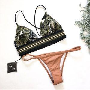 NWT Palm & Nude 2pc Bikini